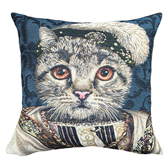 Cushion cover Cat Francis I - Blue