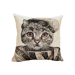 Cushion cover Cat Francis I - Beige