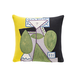 Cushion cover Picasso Woman in green and purple
