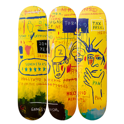 Skateboards Triptych Jean-Michel Basquiat Hollywood Africans, 1983 - The Skateroom
