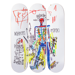 Skateboards Triptych Jean-Michel Basquiat Robot - The Skateroom
