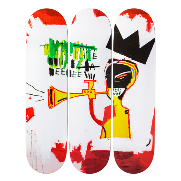 Skateboards triptyque Jean-Michel Basquiat Trumpet - The Skateroom