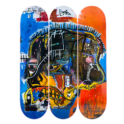 Skateboards Triptych Jean-Michel Basquiat Skull - The Skateroom