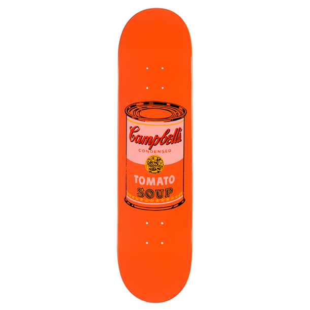 Skateboard Warhol Campbell's - The Skateroom - Peach