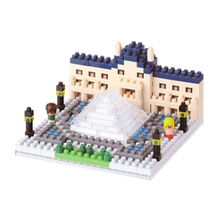 Nanoblock Model of the Louvre museum