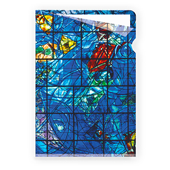 Chagall Clear File - Stained glass window of the Creation of the world - A4