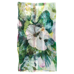 Stole with green floral pattern - Saldarini