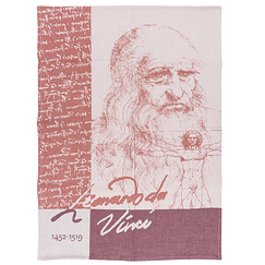 Tea towel Leonardo Da Vinci 1452-1519 - Tissage Moutet
