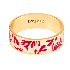 Jonc avec fermoir - Blanc Sable / Rouge Velours - Bangle Up