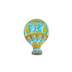 Bonjour Versailles Hot air balloon Pin's