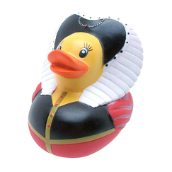 Plastic bath duck Queen