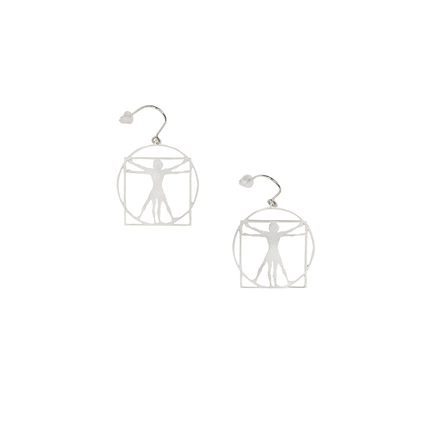 Earrings Da Vinci - Vitruvian Man