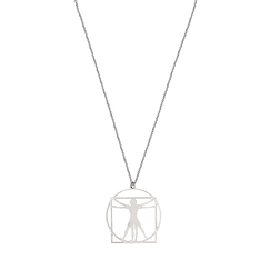 Necklace Da Vinci - Vitruvian Man