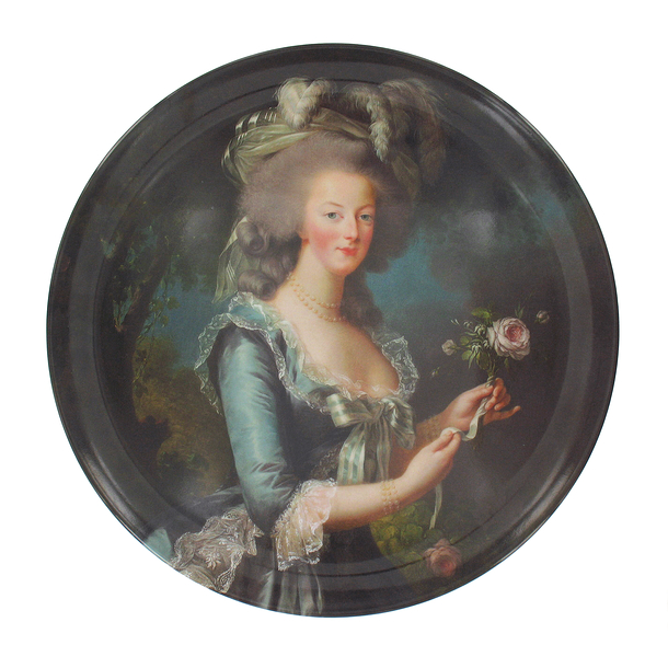 Marie-Antoinette with a rose Plate