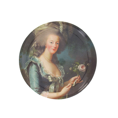 Marie-Antoinette with a rose Butter Plate