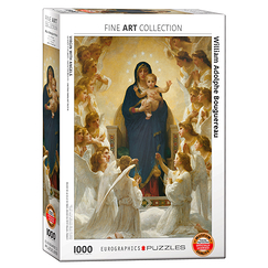1000 Pieces Puzzle - The Virgin with Angels