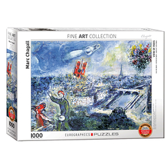 1000 Pieces Puzzle - Chagall - The Paris Bouquet