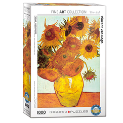1000 Pieces Puzzle - Van Gogh - Twelve sunflowers