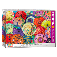 1000 Pieces Puzzle - Asian Oil Paper Umbrellas