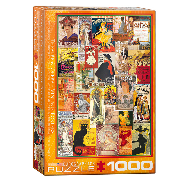 1000 Pieces Puzzle - Theatre and opera - Vintage posters