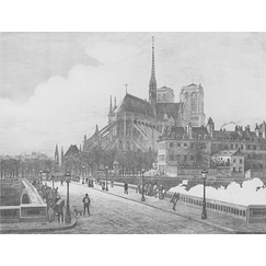 Notre-Dame in 1881 - Nicolle