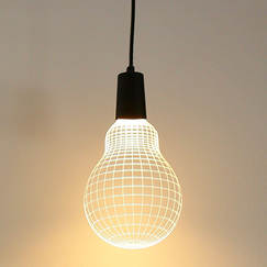 Wall lamp 3D effect Bulb