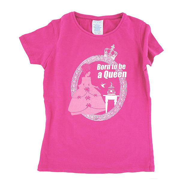 T-Shirt Born to be a Queen - Enfant
