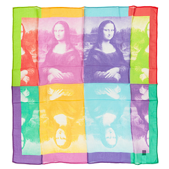 Mona Lisa Pop Square scarf