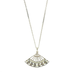 Necklace with pendant Fan