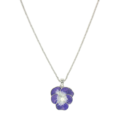 Necklace with pendant Pansy