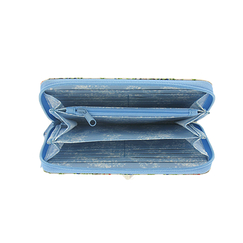 Madame Victoire blue wallet - Ladies of the Court