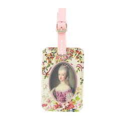 Pink Marie Antoinette luggage tag - Ladies of the court