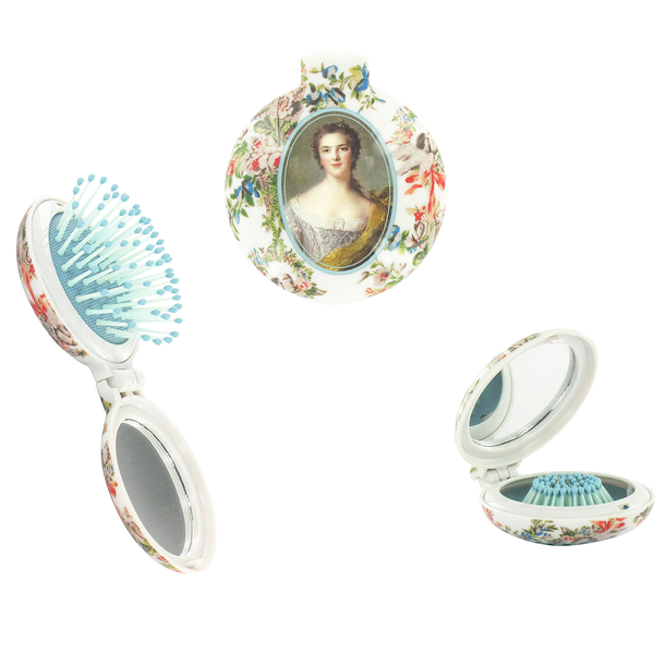 2 in 1 hairbrush and mirror - Ladies of the court