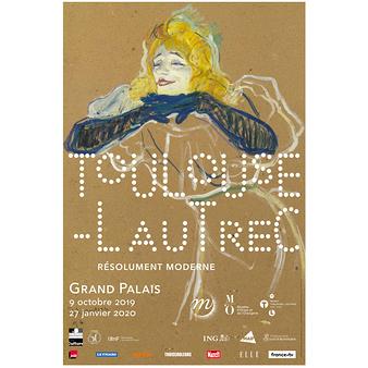 Affiche de l'exposition - Toulouse-Lautrec