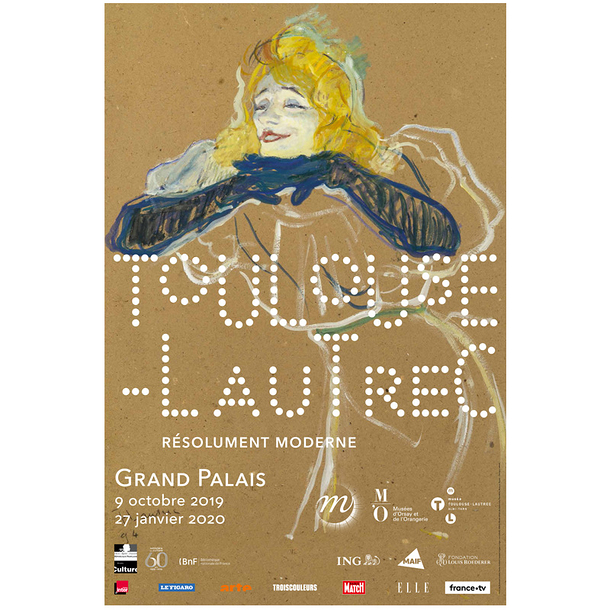 Exhibition poster - Toulouse-Lautrec