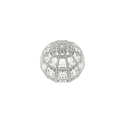 Magnetic Brooch Da Vinci - Sphere Divina proportione - Silvered