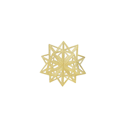Magnetic Brooch Da Vinci - Star Divina proportione - Gold