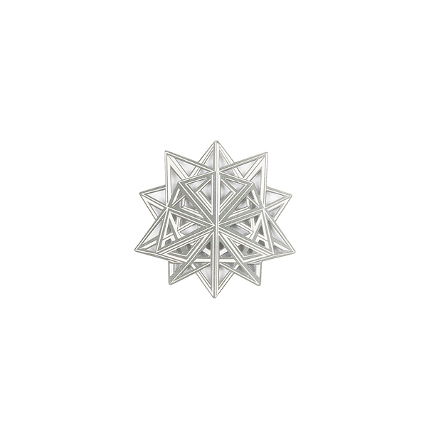 Magnetic Brooch Da Vinci - Star Divina proportione - Silvered