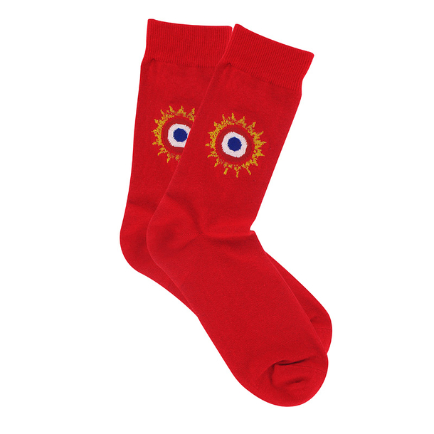 Socks with Cockade 41-46 - Red