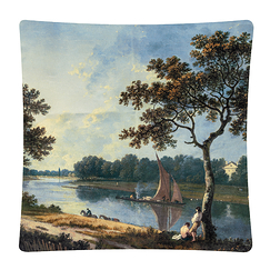 Richard Wilson The Thames near Marble Hill, Twickenham Cushion cover