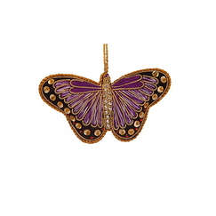 Purple Satin Butterfly Christmas Decoration