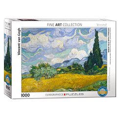 1000 Pieces Puzzle - Van Gogh - Wheat field with cypresses