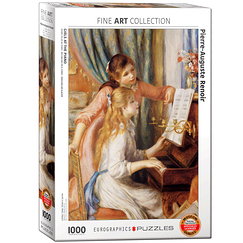 1000 Pieces Puzzle - Renoir - Girls at the piano