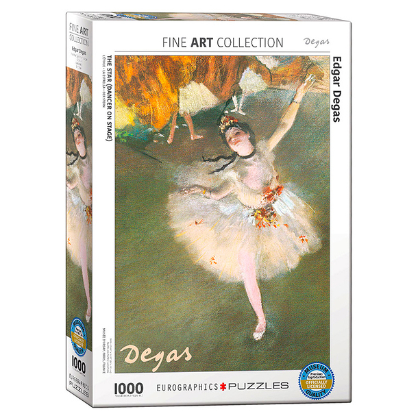 1000 Pieces Puzzle - Degas - The star