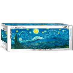 1000 Pieces Panoramic Puzzle - Van Gogh - Starry night