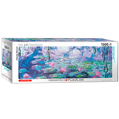 1000 Pieces Panoramic Puzzle - Monet - Waterlilies