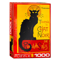 1000 Pieces Puzzle - Steinlen - Black cat