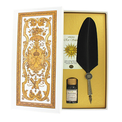 Versailles writing set - Black Goose Quill - Bortoletti