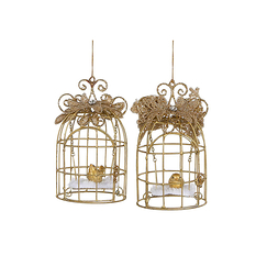 Christmas decoration - Bird cages - 2 pieces