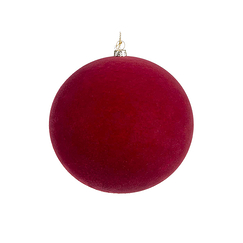 Velvet Christmas ball - Red